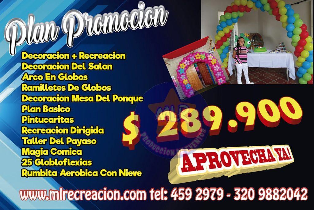 promociones en fiestas infantiles